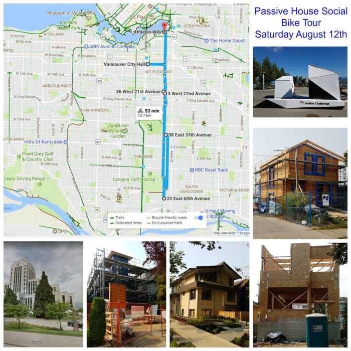 Vancouver Passive House Bike Tour map and project images